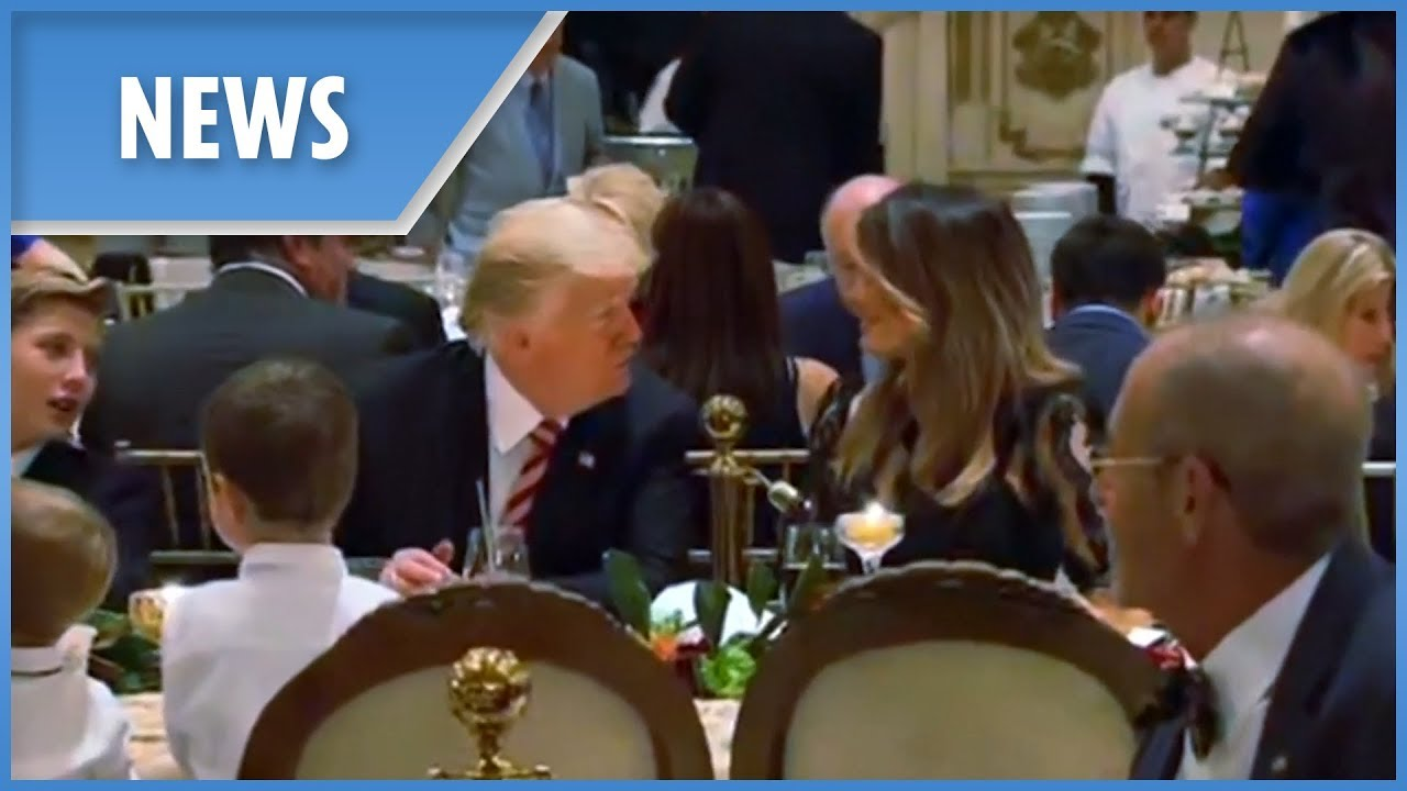 US President Donald Trump and family celebrate Thanksgiving in Florida