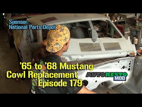 Classic Ford Mustang 1965 1966 1967 1968 Cowl Vent Replacement How to Episode 179 Autorestomod