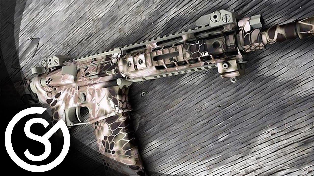 Gunskins Ar 15 M4 Rifle Skin Diy Install Tutorial Youtube