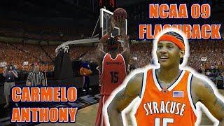 CARMELO ANTHONY COLLEGE FLASHBACK | NCAA BASKETBALL 09 GAMEPLAY
