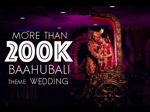 Baahubali theme wedding | Chandiranai Thottathu  | Thinu & Mathusha | 7 studio | 4K