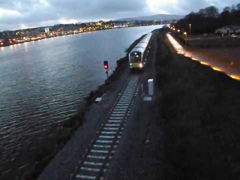 Belfast To Derry Train Arriving