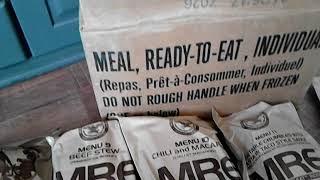 MRE maaltijden voor onder andere mijn survival kit .