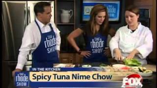 Spicy Tuna Nime Chow With Edamame Salad