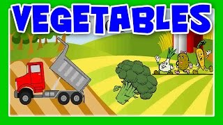 Vegetable Song,Learn Vegetable Names With Dump Truck,Vegetable Truck For Children by JeannetChannel