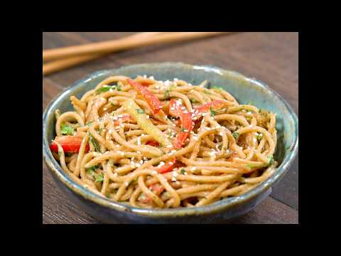 Thai Peanut Noodles |  Thai Peanut Noodles Recipe | Thai Noodles Recipe