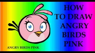 Angry Birds Seasons -  How To Draw Pink Bird