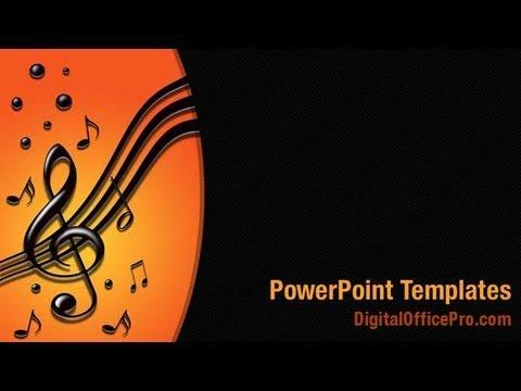 Music Notes PowerPoint Template Backgrounds - DigitalOfficePro