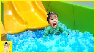 Indoor Playground Learn Colors Slide Color Ball Family Kids Fun for Play Rainbow | MariAndKids Toys