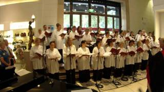 "David Jones Staff Choir sing ""The Little Drummer Boy"""