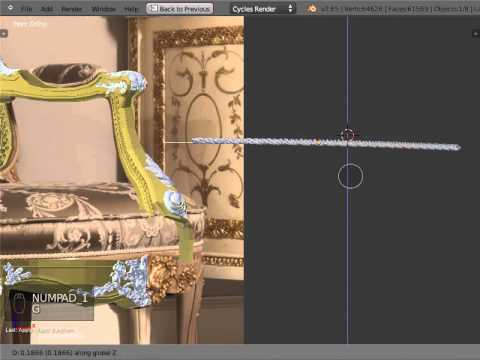 Blender Baroque ornament and rope patterns applying