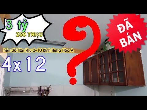 Bán nhà giá SINH VIÊN liên khu 2-10 gần Lê Văn Quới, Tân Kỳ Tân Quý Bình Hưng Hòa A Bình Tân sổ hồng