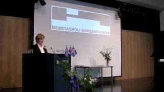 Ávarp Aðstoðarskólameistara á Brautskráningu 2009