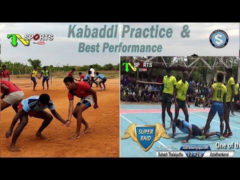 Kabaddi Practice & Best Performance Of Subash Sports Academy, Thalaiyuthu, Tirunelveli