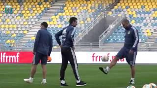 #SelecciónMayor: Trabajos en el estadio de Tanger. ¡Todo listo para el partido con Marruecos!