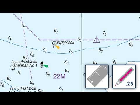 Deleting a buoy and description on an ADMIRALTY Standard Nautical Chart