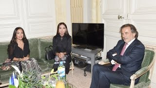 Mehriban Aliyeva meets the mayor of the 1st Arrondissement of Paris