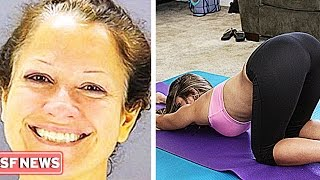 woman sets fire to yoga studio and smiles about it