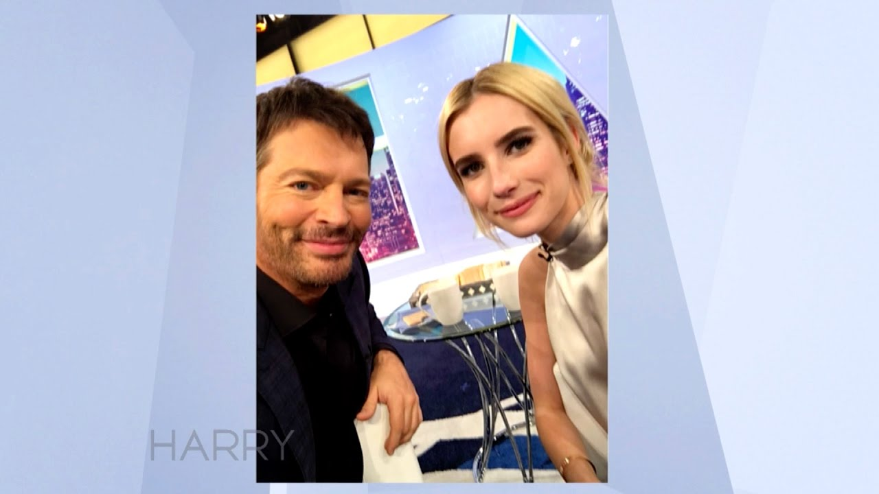 Emma Roberts And Harry Connick Jr Take A Selfie Youtube