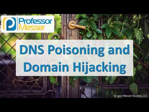 DNS Poisoning and Domain Hijacking - CompTIA Security+ SY0-501 - 1.2
