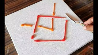 Demonstration / Easy Abstract Painting / Satisfying / Project 365 days / Day #0339