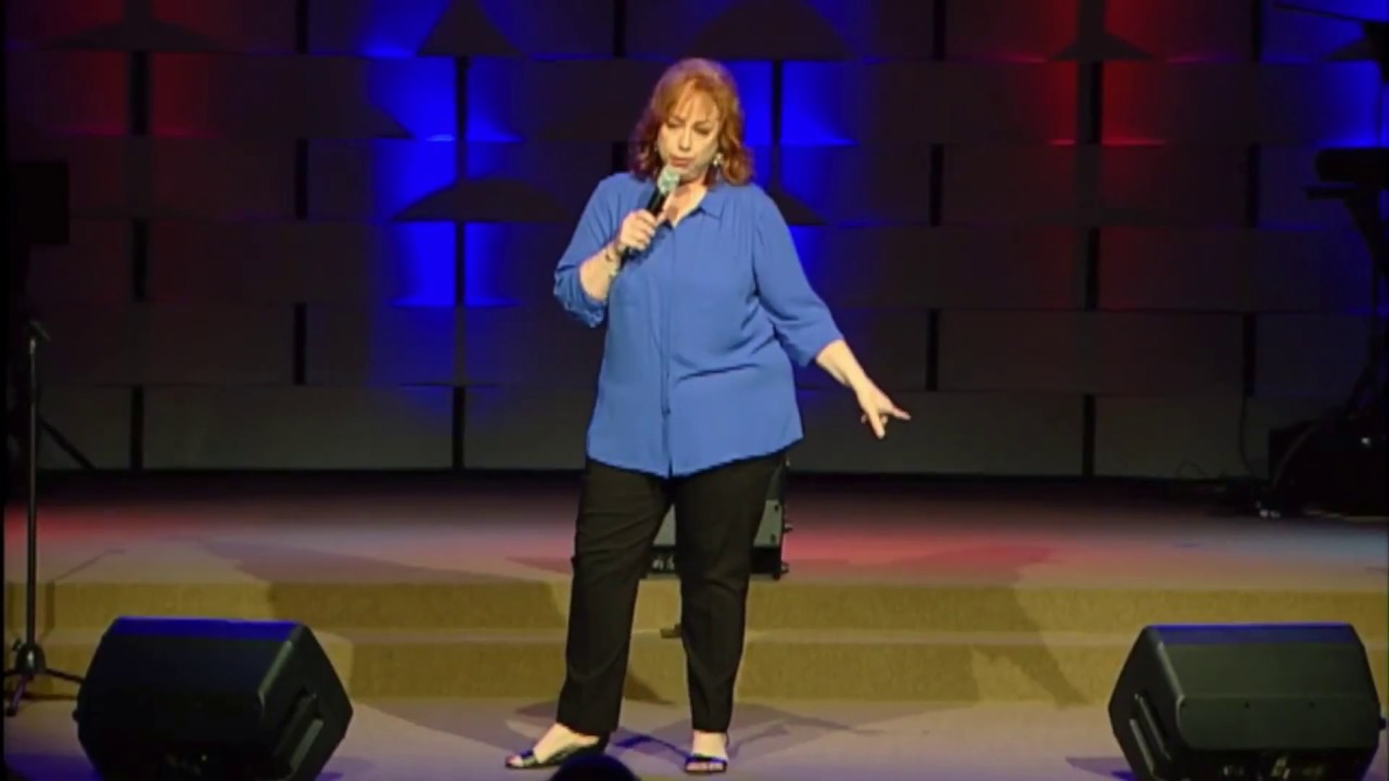 Lisa Mills performing on the Christian Comedy Association National Showcase