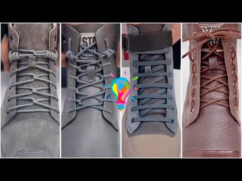 Шнуровка ботинок. Как завязать шнурки на ботинках   Lacing Of Shoes