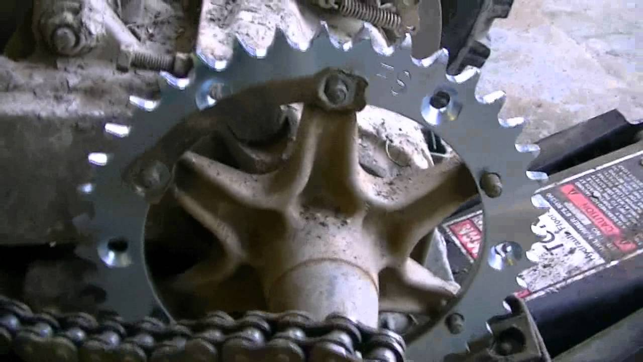 hight resolution of replacing chain and sprockets