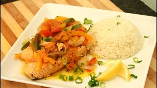 STEAMED SALMON WITH RICE - Jamaican Steamed SALMON  Fish