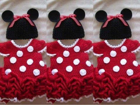 Vestido de minnie tejido a crochet