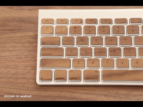 REVIEW: Real Wood Keyboard Stickers for Mac! (Lazer Wood Industries)