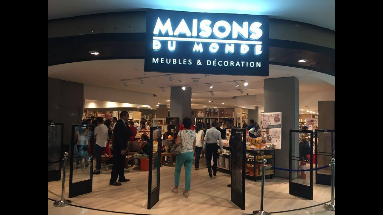 opening 1 re franchise maisons du monde au morocco mall youtube. Black Bedroom Furniture Sets. Home Design Ideas
