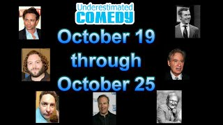 This Week in Comedy History Oct 19 - Oct 25