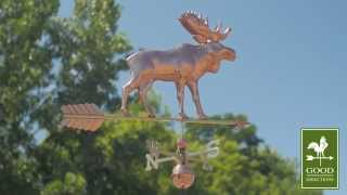 Good Directions 9557pa Moose With Arrow Weathervane - Polished Copper