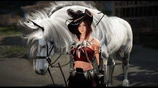 Black Desert Online: Horse Skill Split-Screen Speed Comparison (Drift/Sprint/Acceleration)
