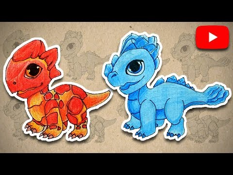 Ldp How To Draw Baby Dragon From Dragon Mania Legends Lava