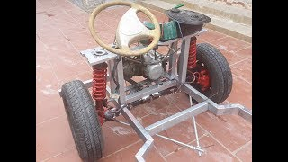 TECH - Homemade a car with gearbox strong car 500 kg - part 6
