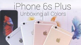 iPhone 6s Plus Unboxing & Color Comparison! (Rose Gold, Silver, Gold, & Space Gray)
