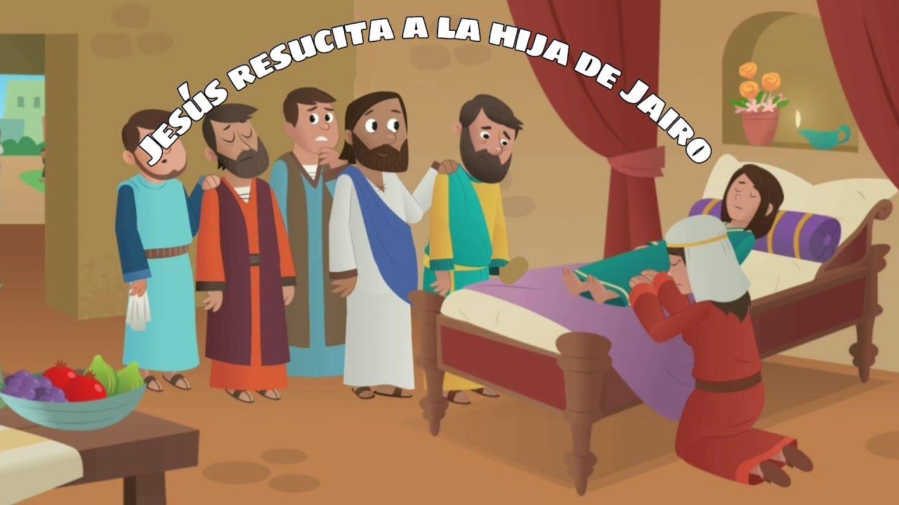 Milagro De Jesús Para Niños Jesús Resucita A La Hija De Jairo Youtube