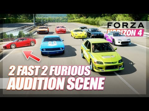 Forza Horizon 4 - 2 Fast 2 Furious Recreation! (Audition Scene) thumbnail