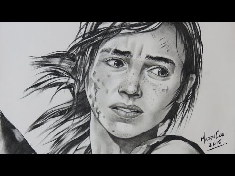 """Drawing Ellie from """"The Last of Us"""""""