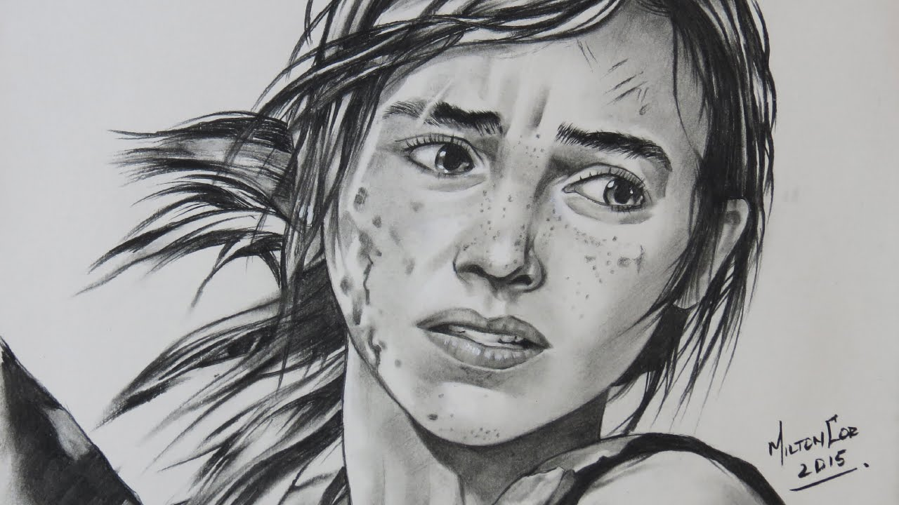 Drawing Ellie From The Last Of Us