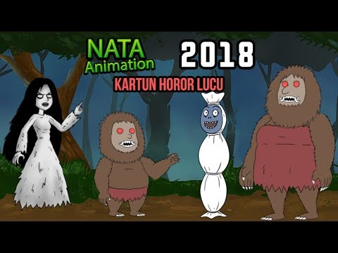 Kompilasi Kartun Horor Lucu Kuntilanak, Pocong, Genderwo - Nata Animation 2018