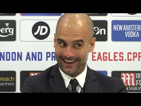Crystal Palace 1-2 Manchester City - Pep Guardiola Post Match Press Conference - Embargo Extras