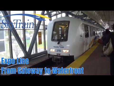 Vancouver Sky Train - Expo Line - Gateway to Waterfront