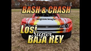 Losi SBR Bash, Speed Run and Crashes on 6S