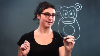 How to Draw a Monkey for Children