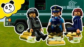 ⭕ PLAYMOBIL POLIZEI 💰 Geldtransporter 💰 Spielzeug ausgepackt & angespielt Pandido TV