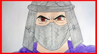How to draw Shredder from ninja turtles