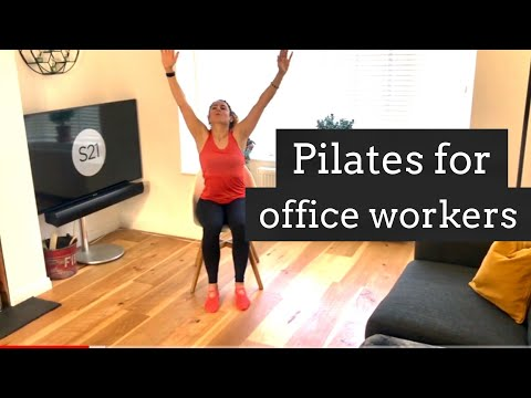Pilates you can do at your desk. Working From Home, Part 1 of 4